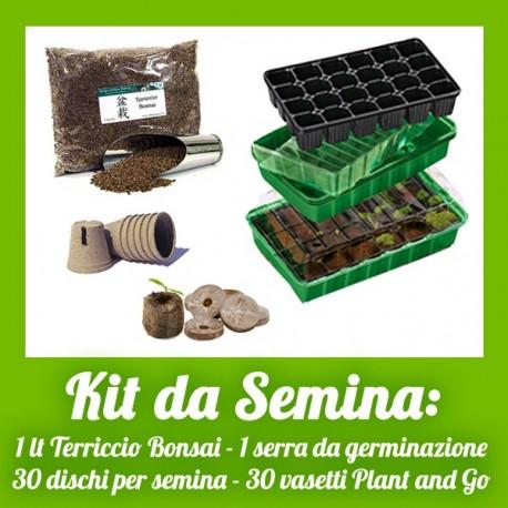 Kit da semina completo di tutti gli accessori per la for Vasi per semina